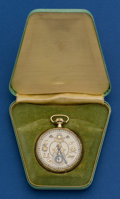 Timepieces:Pocket (post 1900), Elgin Masonic 12 Size Pocket Watch. ...