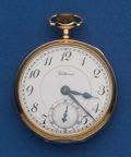 Timepieces:Pocket (post 1900), Waltham 23 Jewel 14k Gold 16 Size Riverside Maximus Pocket Watch....