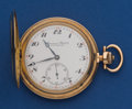 Timepieces:Pocket (post 1900), International Co. 14k Gold 53 mm Hunter's Case Pocket Watch. ...