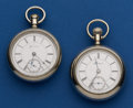 Timepieces:Pocket (post 1900), Two Rockford 18 Size Pocket Watches Runners. ... (Total: 2 Items)