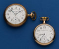 Timepieces:Pocket (post 1900), Two Hampden's Pocket Watches - North American 18 Size 21 Jewel, 16Size 17 Jewel Runners. ... (Total: 2 Items)