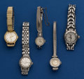 Timepieces:Wristwatch, Five Ladies Wristwatches 4 Omegas & 1 Tag. ... (Total: 5 Items)