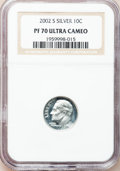 Proof Roosevelt Dimes, 2002-S 10C Silver PR 70 Ultra Cameo NGC. This Set Includes: 2002-S10C Silver PR 70 Ultra Cameo NGC, 2003-S 10C Silver PR... (Total: 5coins)