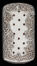 Silver Smalls:Match Safes, A KERR SILVER, SILVER GILT AND GARNET MATCH SAFE . Wm. B. Kerr& Co., Newark, New Jersey, circa 1900. Marks: STERLING, BO...