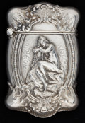 Silver Smalls:Match Safes, AN UNGER BROTHERS SILVER MATCH SAFE . Unger Bros., Newark, NewJersey, circa 1890. Marks: (UB intertwined), STERLING 925F...