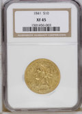 Liberty Eagles: , 1841 $10 XF45 NGC. NGC Census: (32/86). PCGS Population (29/44).Mintage: 63,131. Numismedia Wsl. Price: $667. (#8582)...