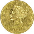 Liberty Eagles: , 1845 $10 AU53 NGC. NGC Census: (11/41). PCGS Population (1/8).Mintage: 26,153. Numismedia Wsl. Price: $1,850. (#8592)...