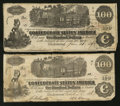 Confederate Notes:1862 Issues, T39 $100 1862. T40 $100 1862.. ... (Total: 2 notes)