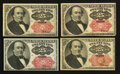 Fractional Currency:Fifth Issue, Fr. 1308 and Fr. 1309 25¢ Fifth Issue Notes. Extremely Fine toChoice New. Four Examples.. ... (Total: 4 notes)