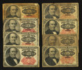 Fractional Currency:Fifth Issue, Fr. 1308 and Fr. 1309 25¢ Fifth Issue Notes. Good to Extremely Fine. Eight Examples.. ... (Total: 8 notes)