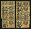 Fractional Currency:Fifth Issue, Fr. 1308 and Fr. 1309 25¢ Fifth Issue Notes. Very Good to Fine. Ten Examples.. ... (Total: 10 notes)