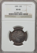 Barber Quarters: , 1895 25C XF45 NGC. NGC Census: (2/171). PCGS Population (8/201).Mintage: 4,440,880. Numismedia Wsl. Price for problem free...