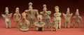 American Indian Art:Pottery, Large Collection of Colima Figures and One Nayarit... (Total: 10Items)