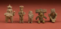 American Indian Art:Pottery, Collection of Five Fine Miniatures... (Total: 5 Items)
