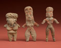 American Indian Art:Pottery, A Chupicuaro and Two Tlatilco Figures... (Total: 3 Items)
