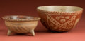 American Indian Art:Pottery, Two Fine Bi-Chrome Bowls... (Total: 2 Items)