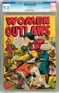 Women Outlaws #8 Mile High pedigree (Fox Features Syndicate, 1949) CGC NM- 9.2 White pages