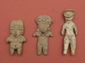 American Indian Art:Pottery, Lot of Chupicuaro Pretty Ladies and Tlatilco Ballplayer... (Total:3 Items)