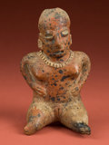 American Indian Art:Pottery, Nayarit Seated Female Singer...