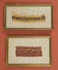 American Indian Art:Weavings, Two Framed Ancient Textile Fragments... (Total: 2 Items)