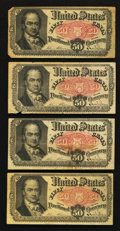 Fractional Currency:Fifth Issue, Fr. 1380 50¢ Fifth Issue Notes. Very Fine. Four Examples.. ...(Total: 4 notes)