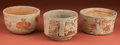 American Indian Art:Pottery, Collection of Three Maya Bowls... (Total: 3 Items)