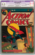 Golden Age (1938-1955):Superhero, Action Comics #23 (DC, 1940) CGC Apparent VG 4.0 Moderate (P) Cream to off-white pages....