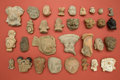 American Indian Art:Pottery, Large Assortment of Head Fragments, Thirty-one Pieces... (Total: 31Items)