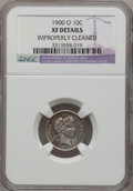 Barber Dimes, 1900-O 10C --Improperly Cleaned--NGC Details. XF. NGC Census:(5/58). PCGS Population (7/69). Mintage: 2,010,000. Numismedia...