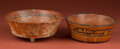 American Indian Art:Pottery, Two Maya Painted Bowls... (Total: 2 Items)
