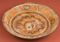 American Indian Art:Pottery, Polychrome Decorated Maya Plate...