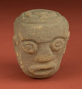 American Indian Art:Pottery, Andean Stone Head... (Total: 11 Items)