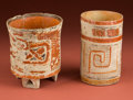 American Indian Art:Pottery, Two Maya Polychrome Vases... (Total: 2 Items)