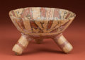 American Indian Art:Pottery, Mixtec Tripod Offering Bowl...