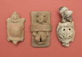 American Indian Art:Pottery, Colima Captive, Maya Turtle, and Aztec Whistle... (Total: 3 Items)