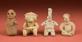 American Indian Art:Pottery, Colima, Chinesco, and Jalisco Figures... (Total: 4 Items)