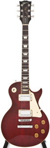 Musical Instruments:Electric Guitars, 1980 Gibson Les Paul Standard Cherry Solid Body Electric Guitar,#82390631....
