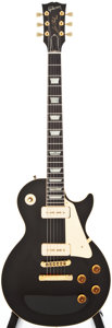 Musical Instruments:Electric Guitars, 1991 Gibson Les Paul Black Solid Body Electric Guitar, #91161397....
