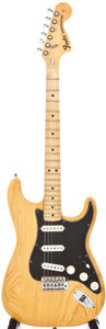 Musical Instruments:Electric Guitars, 1976 Fender Stratocaster Natural Solid Body Electric Guitar, #672202....