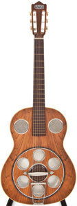 Musical Instruments:Resonator Guitars, 1960s Del Vecchio Dinâmico Natural Resonator Guitar, #N/A....