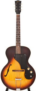 Musical Instruments:Electric Guitars, 1963-67 Gibson ES-120T Sunburst Archtop Electric Guitar,#101382....