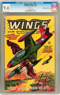 Wings Comics #113 Mile High pedigree (Fiction House, 1951) CGC NM+ 9.6 White pages