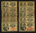 Fractional Currency:Fifth Issue, Fr. 1308 and Fr. 1309 25¢ Fifth Issue Notes. Very Good to Fine. TenExamples.. ... (Total: 10 notes)