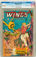Golden Age (1938-1955):Adventure, Wings Comics #109 Mile High pedigree (Fiction House, 1949) CGC NM 9.4 Off-white to white pages....