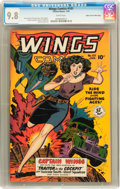 Golden Age (1938-1955):War, Wings Comics #101 Mile High pedigree (Fiction House, 1949) CGC NM/MT 9.8 White pages....
