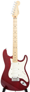 Musical Instruments:Electric Guitars, 1997 Fender Stratocaster Plus Red Foil Solid Body Electric Guitar, #N7217447....