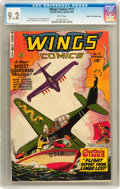 Golden Age (1938-1955):War, Wings Comics #111 Mile High pedigree (Fiction House, 1950) CGC NM-9.2 White pages....