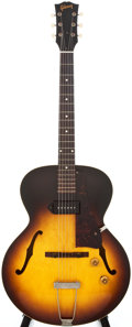Musical Instruments:Electric Guitars, 1958 Gibson ES-125T Sunburst Semi-Hollow Body Electric Guitar, #T550628....