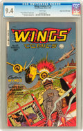 Golden Age (1938-1955):War, Wings Comics #110 Mile High pedigree (Fiction House, 1949) CGC NM9.4 White pages....