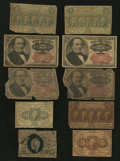 Fractional Currency:First Issue, Fractionals Good or Better.. ... (Total: 10 notes)